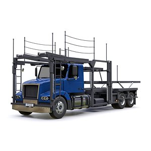 3D car carrier trailer