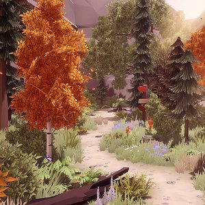 trees nature 3D