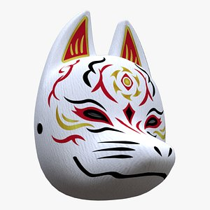 fox mask japanese 3D model