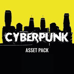 Cyberpunk - Asset Pack - Unity HDRP 3D model