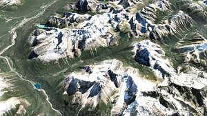 Mountain landscape 3D