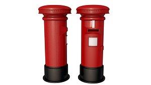 Royal Mail Post Box 3D model