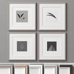 3D picture frames set-222 model