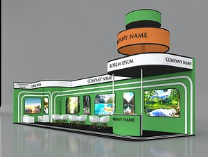 5 Exhibition Stand Stall Fair 3D Model Collection 3D model