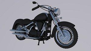 3D motorcycle Yamaha XVS 1100