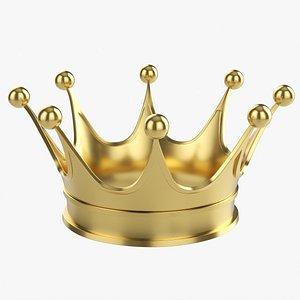 3D Royal coronation gold crown 02