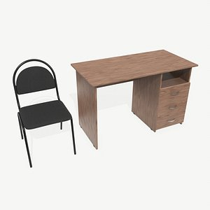 3D model Desk and Chair