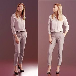 10039 Ramona - Standing Business Woman With Hand In Pocket model