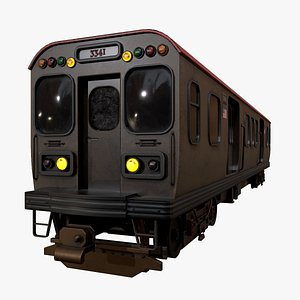 Chicago Old Train PBR game ready model