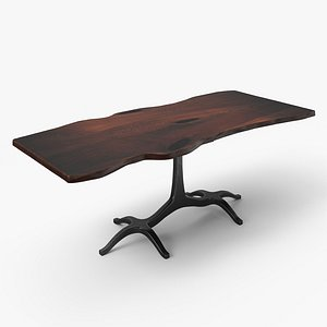 3D model slab dining table