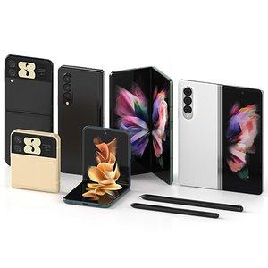 Samsung Galaxy Z Fold 3 and Galaxy Z Flip 3 3D model
