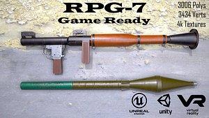 3D grenade launcher model