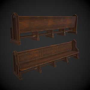 Church Pew 3D model