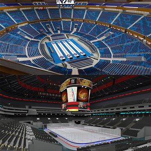 3D Ice Hockey Arena and Curling Arena