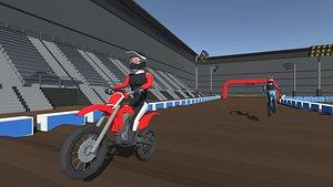 moto cross 3D model