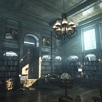 Old Classic Library - 8K PBR Textures