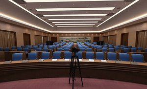 Conference room, big conference, lecture hall, lecture hall, multimedia conference room, multimedia 3D model