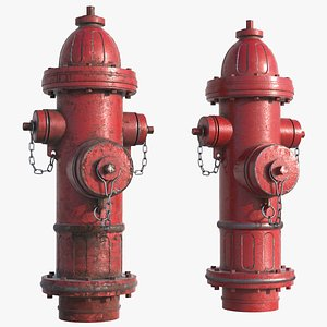 hydrant red 3D