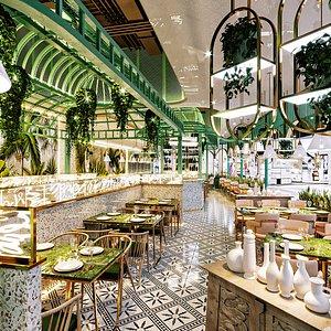 restaurant european 3D model