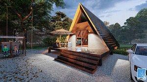 3D BUNGALOV HOUSE DESIGN