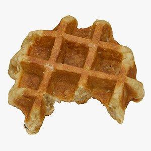 Mini Waffle 01 Bitten RAW Scan 3D model