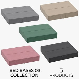 Bed Bases 03 Collection 3D model