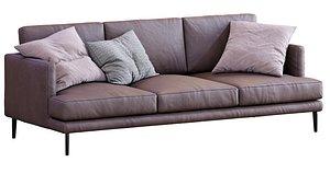 3D Bonaldo Leather Sofa Paraiso model