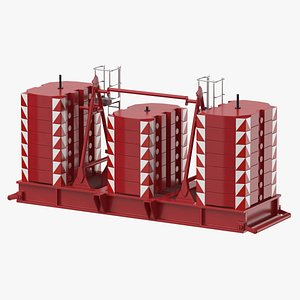 crane super lift counterweight 3D model
