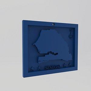 Senegal Map Print 3D model
