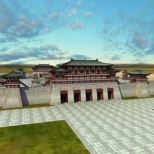 Chinese Ancient Buildings 04 3D model
