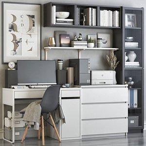3D IKEA office workplace 70