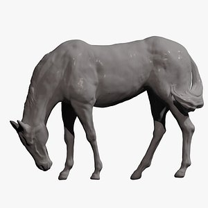 horse grazing printing 3D model