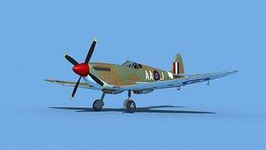 3D Supermarine Spitfire Mk IXb  V08 model