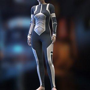 3D Female Sci-Fi suit