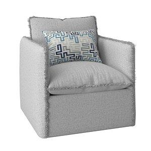 3D model freya lounge chair