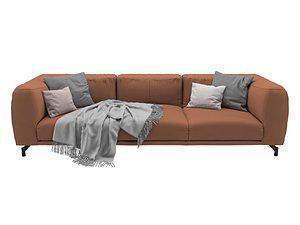3D Germain Leather Sofa