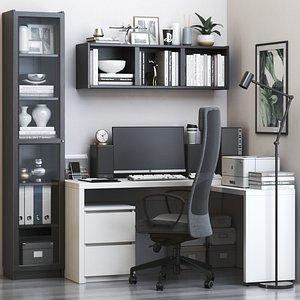 IKEA office workplace 59 3D model