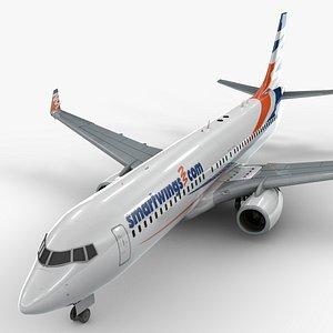 3D boeing 737-8 smartwings