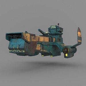 sci-fi cargo model