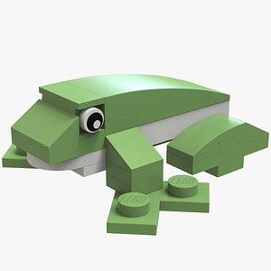 3D Lego Frog Animal model
