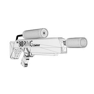 3D model flamethrower