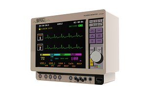 Heart Beat Monitor 3D model