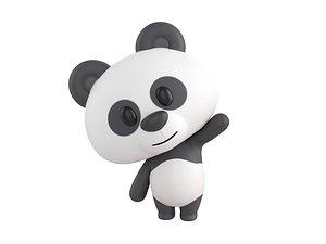 Character129 Rigged Panda 3D model