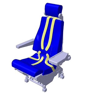 seat assy created 3D model