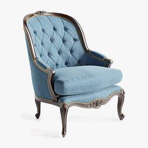 Louis XV Style Armchair 3D model