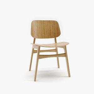 soborg wood chair 3D