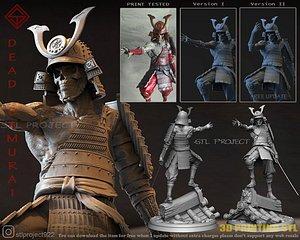 3D samurai creature model
