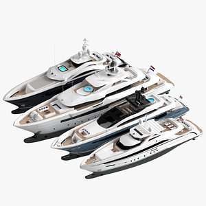 3D Collection Yachts 2021 Spring model