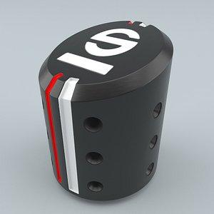 3D SPARCO Settanta R Shift Knob Black