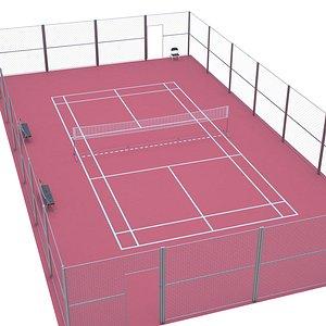 3D Outdoor Badminton Court model